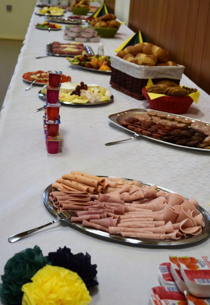 Das Frühstücksbuffet war stehts reichlich gefüllt.