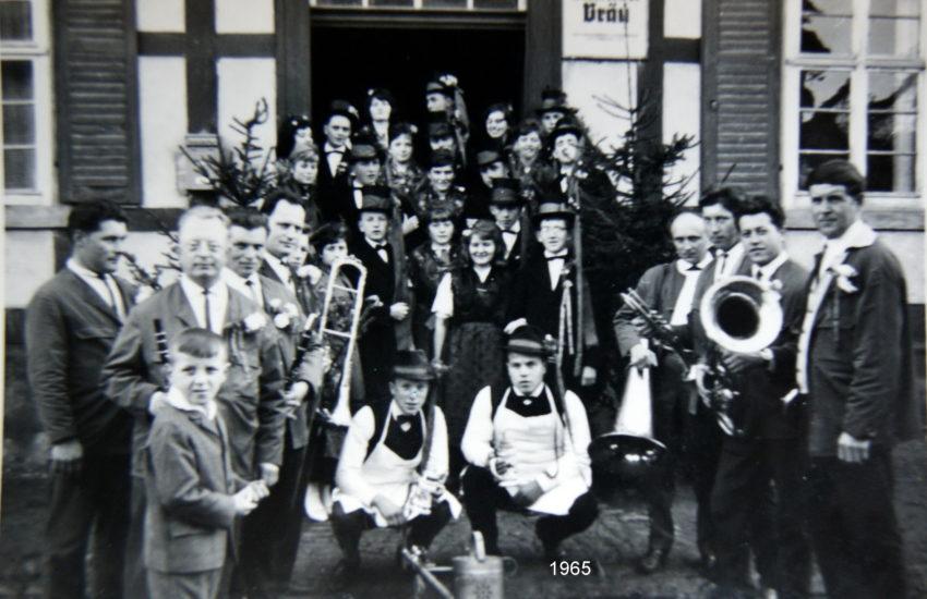 Kirmes früher in Gompertshausen (1965)